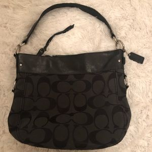 Black Monogram Coach Purse